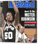 San Antonio Spurs David Robinson... Sports Illustrated Cover Canvas Print