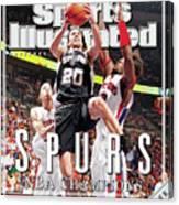 San Antonio Spurs Manu Ginobili, 2005 Nba Finals Sports Illustrated Cover Canvas Print