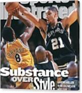 San Antonio Spurs Tim Duncan, 1999 Nba Western Conference Sports Illustrated Cover Canvas Print