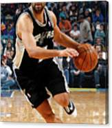 San Antonio Spurs V New Orleans Hornets Canvas Print