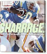 San Diego Chargers Natrone Means... Sports Illustrated Cover Canvas Print