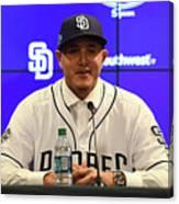 San Diego Padres Introduce Manny Machado Canvas Print
