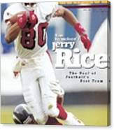 San Francisco 49ers Jerry Rice... Sports Illustrated Cover Canvas Print