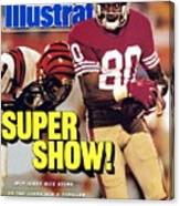San Francisco 49ers Jerry Rice, Super Bowl Xxiii Sports Illustrated Cover Canvas Print