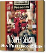 San Francisco 49ers Jerry Rice, Super Bowl Xxix Sports Illustrated Cover Canvas Print