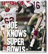 San Francisco 49ers Qb Joe Montana, Super Bowl Xxiv Sports Illustrated Cover Canvas Print