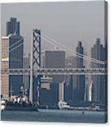 San Francisco Past The Bay Bridge Canvas Print