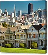 San Francisco Postcard Row Skyline Canvas Print