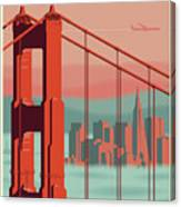 San Francisco Poster - Vintage Travel Canvas Print