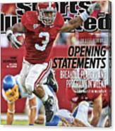 San Jose State V Alabama Sports Illustrated Cover Canvas Print