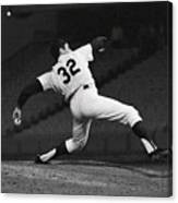 Sandy Koufax Pitching A No Hitter Canvas Print