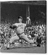 Sandy Koufax Pitching In World Series Canvas Print