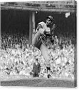 Sandy Koufax Throwing Pitch In World Canvas Print