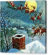 Santa Claus And His Sleigh Canvas Print