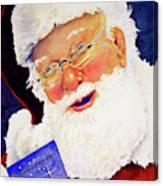 Santa Knows Canvas Print