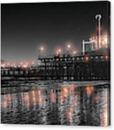 Santa Monica Glow By Mike-hope Canvas Print
