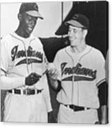 Satchel Paige Bob Feller Comparing Canvas Print
