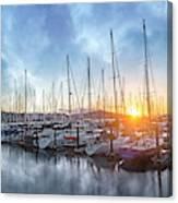 Sausalito California Morning Airs Canvas Print