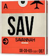 Sav Savannah Luggage Tag I Canvas Print