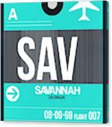 Sav Savannah Luggage Tag II Canvas Print