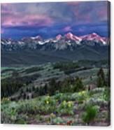 Sawtooth Sunrise Canvas Print