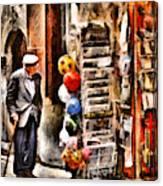 Scanno, Strada Abrami Canvas Print