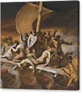 Scene Of Cannibalism For The Raft Of The Medusa Canvas Print