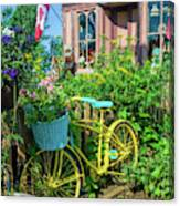 Scenic Garden And Antiques Store Canvas Print