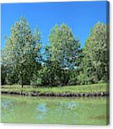 Scenic View Of Burgundy Canal Canvas Print