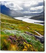 Scenic View Of The Lake And Mountains Canvas Print