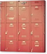 School Lockers Canvas Print