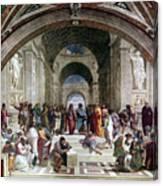 School Of Athens, C1510. Artist Raphael Canvas Print