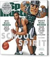 School Spirit 2017-18 College Basketball Preview Issue Sports Illustrated Cover Canvas Print