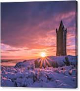Scrabo Winter Sunrise Canvas Print