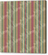 Scroll Stripe Cinnamon Canvas Print