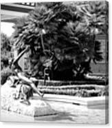 Sculpture Getty Villa Black White  Canvas Print