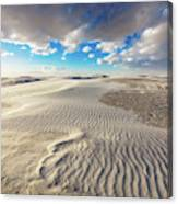 Sea Of Sand - Endless Dunes At White Sands New Mexico Canvas Print