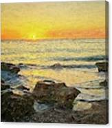 Sea Shore Glow Canvas Print