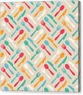 Seamless Cute Pattern With Color Canvas Print