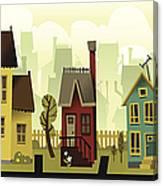 Seamless Neighborhood Canvas Print