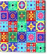 Seamless Pattern  Holiday Cheerful Canvas Print