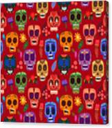 Seamless Pattern-mexican Day Of The Canvas Print