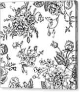 Seamless  Pattern With Bouquet Of Canvas Print