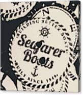 Seaside Sailors Badge Canvas Print