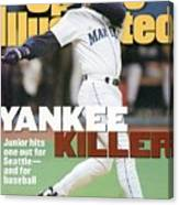 Seattle Mariners Ken Griffey Jr, 1995 Al Division Series Sports Illustrated Cover Canvas Print