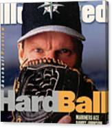 Seattle Mariners Randy Johnson, 1997 Mlb Baseball Preview Sports Illustrated Cover Canvas Print