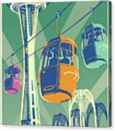 Seattle Poster- Space Needle Vintage Style Canvas Print