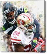 Seattle Seahawks Against San Francisco 49ers Canvas Print