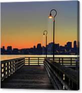Seattle Skyline From The Alki Beach Canvas Print