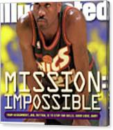 Seattle Supersonics Gary Payton, 1996 Nba Western Sports Illustrated Cover Canvas Print